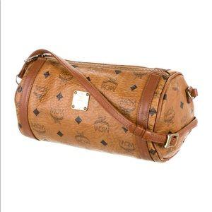 MCM Visetos Barrel Bag